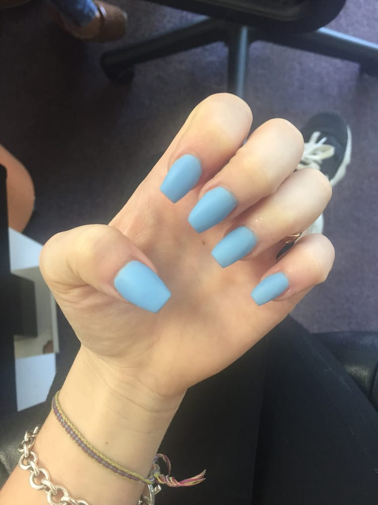 Loved my matte baby blue nails by KIM - Yelp