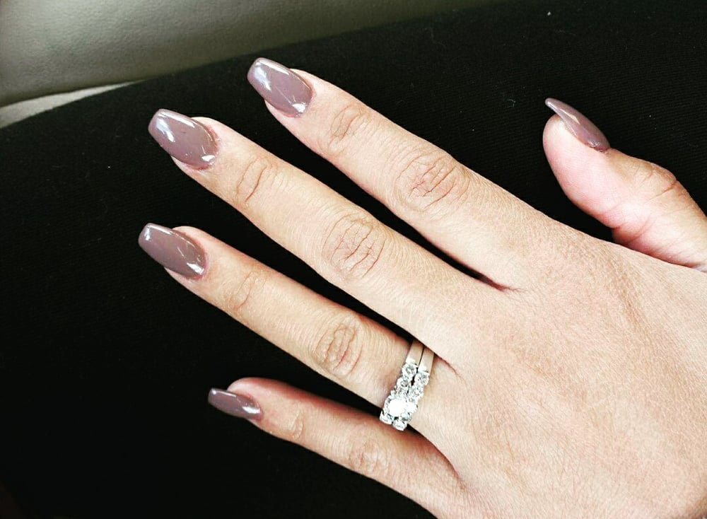 color 27, medium length coffin shaped nails - Yelp