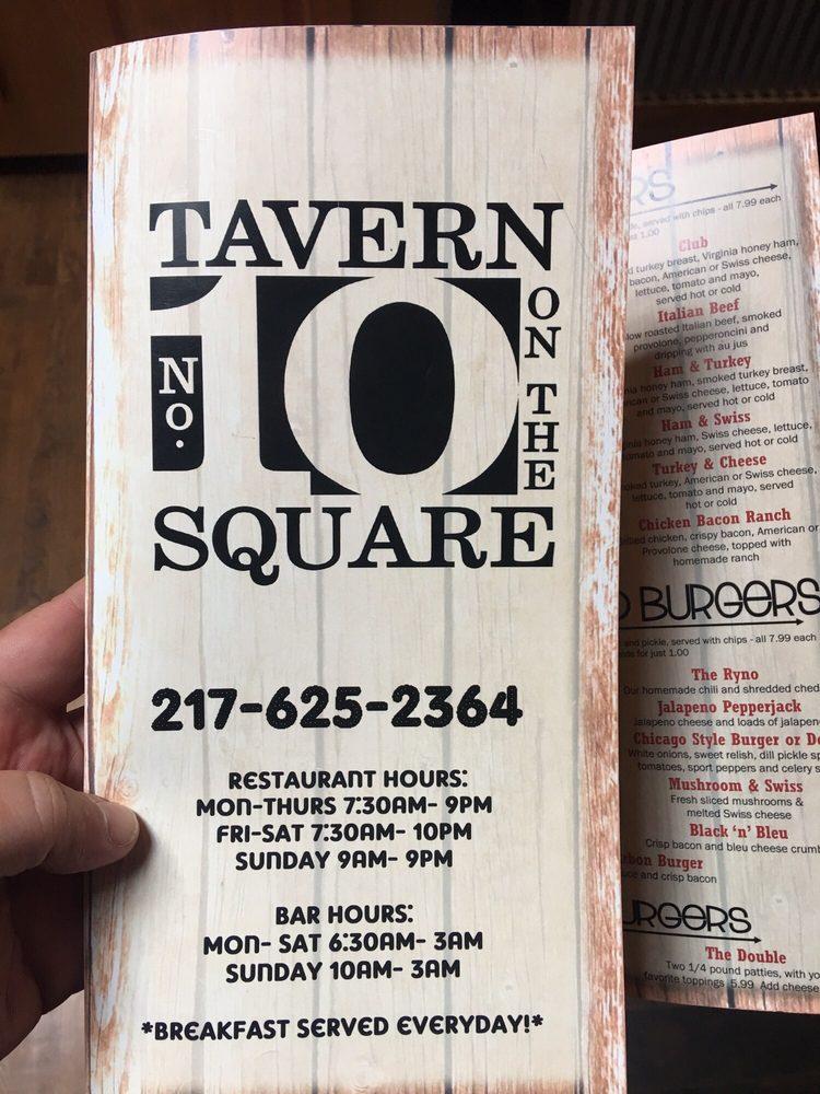 No. 10 Tavern On the Square: 622 6th St, Pawnee, IL