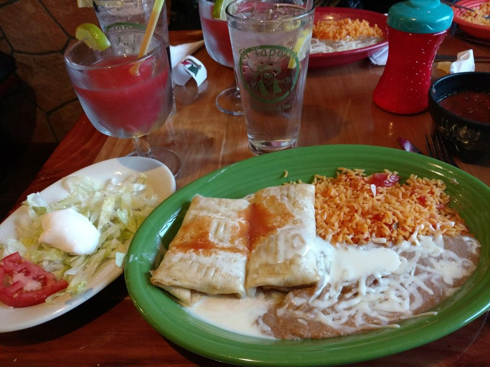 Food from El Tapatio Authentic Mexican Restaurant