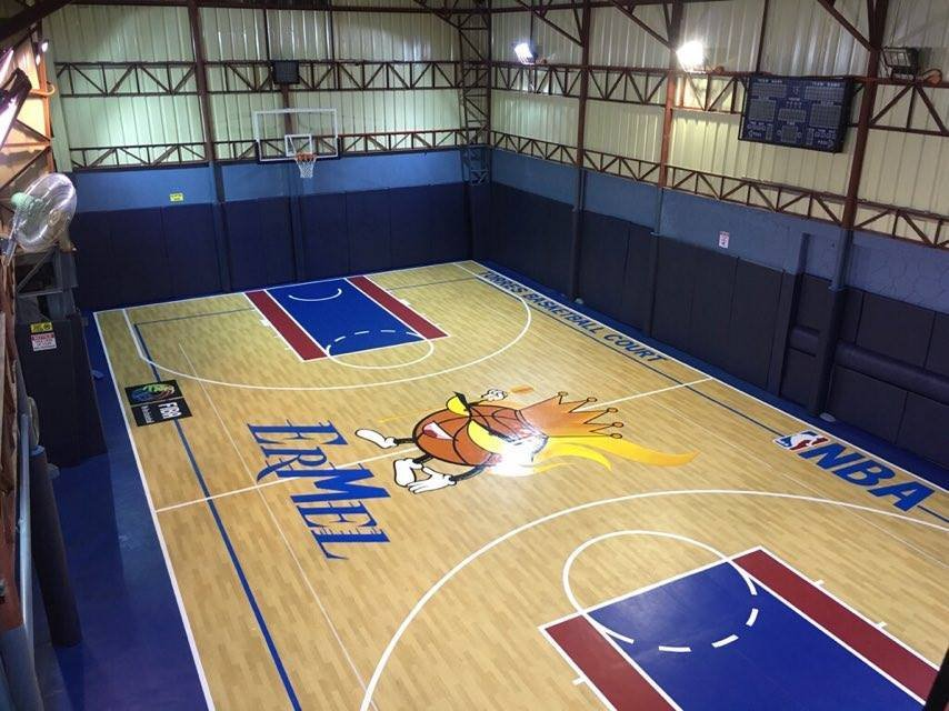 Ermels basketball court 14 photos basketball courts for Residential basketball court cost