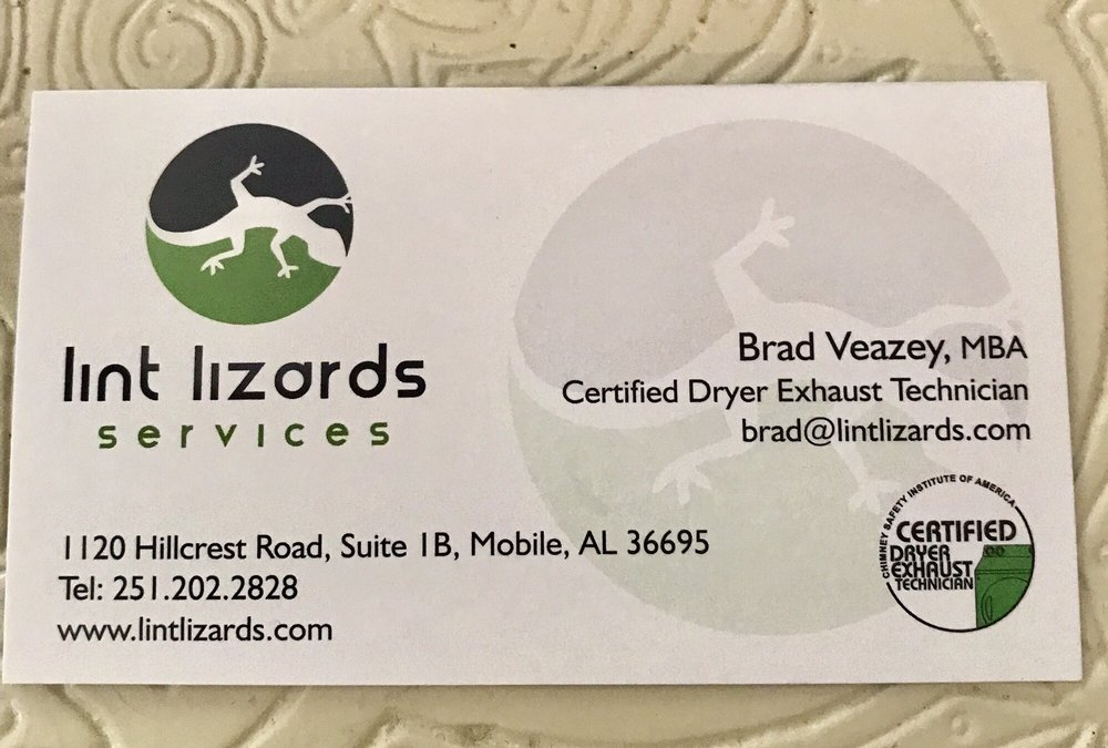 Lint Lizards Services: 1120 Hillcrest Rd, Mobile, AL