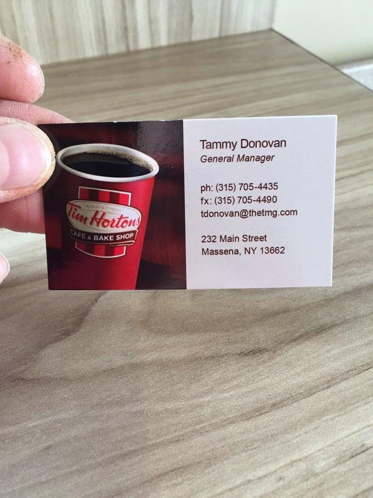 Tim Hortons - Donuts - 232 Main St, Massena, NY - Phone Number - Yelp