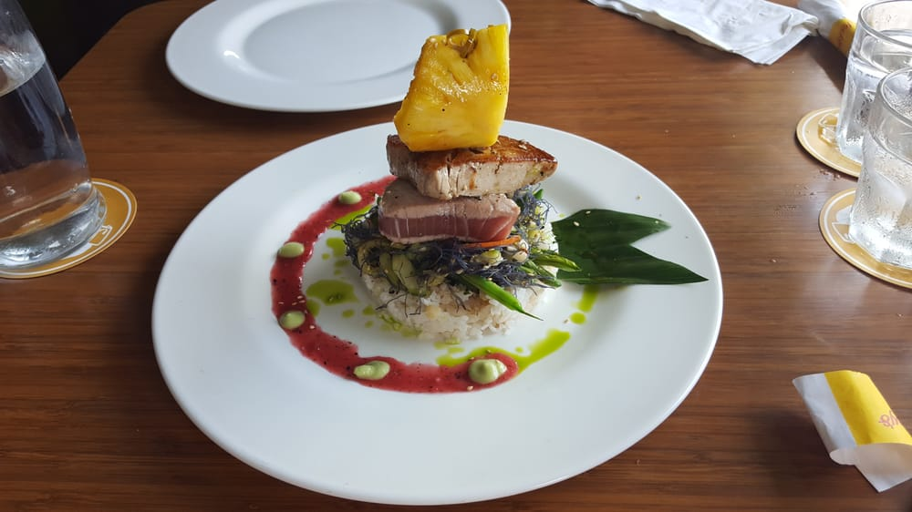 Ahi tuna special of day chef was nice enough to cook two for Ways to cook fish