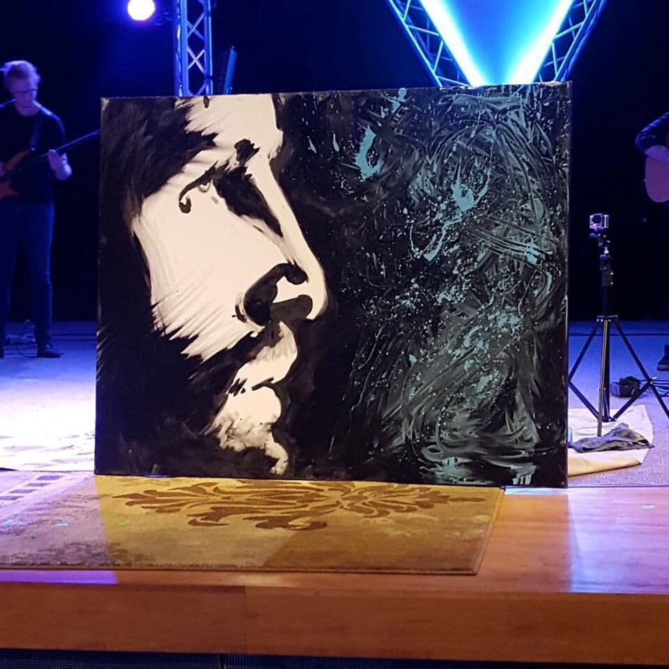 Beliebt Forgiven Jesus painting by Christian performance artist and speed MQ32