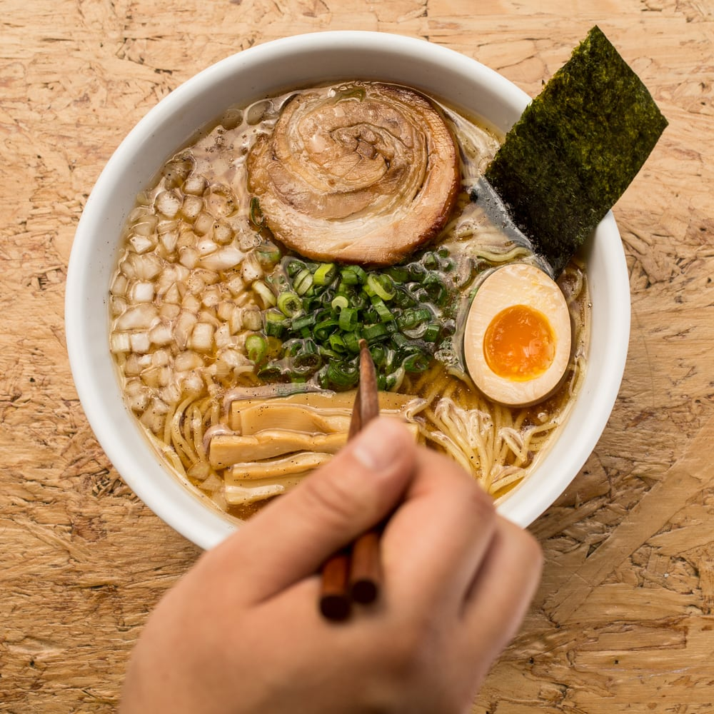 Food from Ramen Tatsu-Ya