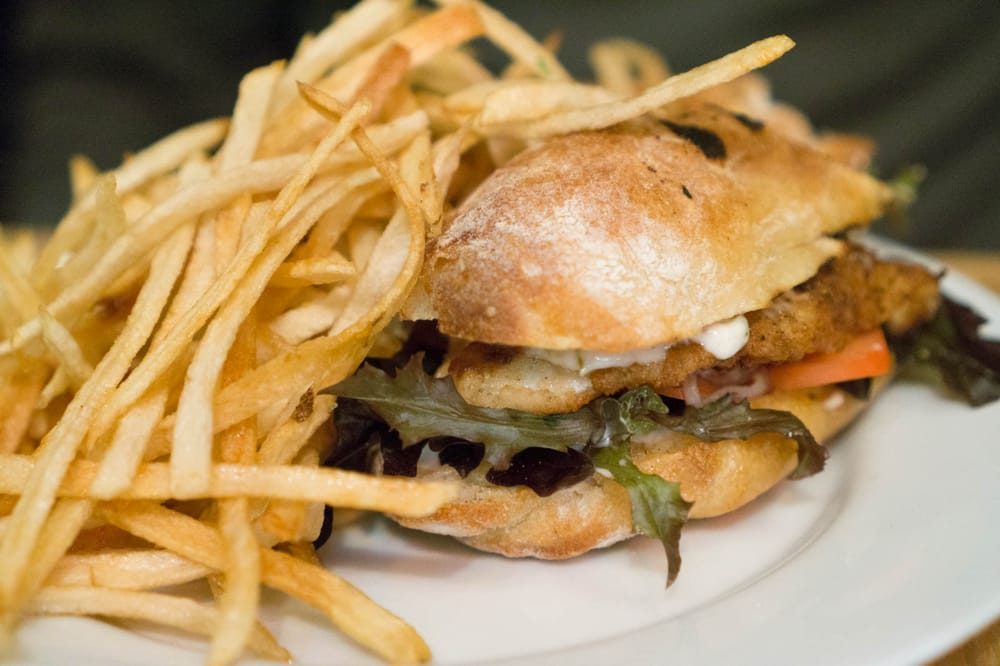 Atlantic cod sandwich with french fries yelp for Marys fish camp fl
