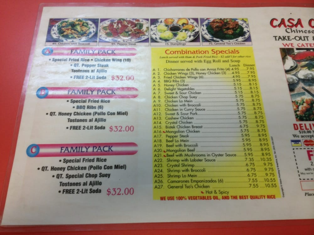 Casa China - Chinese - 6500 W 4th Ave, Hialeah, FL - Restaurant ...