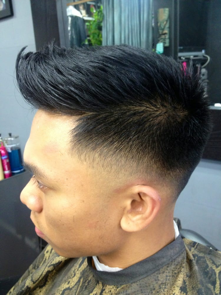 Faux hawk w  High Skin Taper Fade aka Low Skin fade    Cut