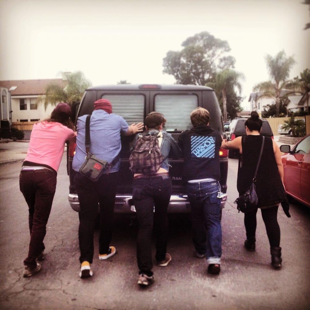 Jeep Dealership San Diego >> Pushing our van to Sam Lee's shop! - Yelp