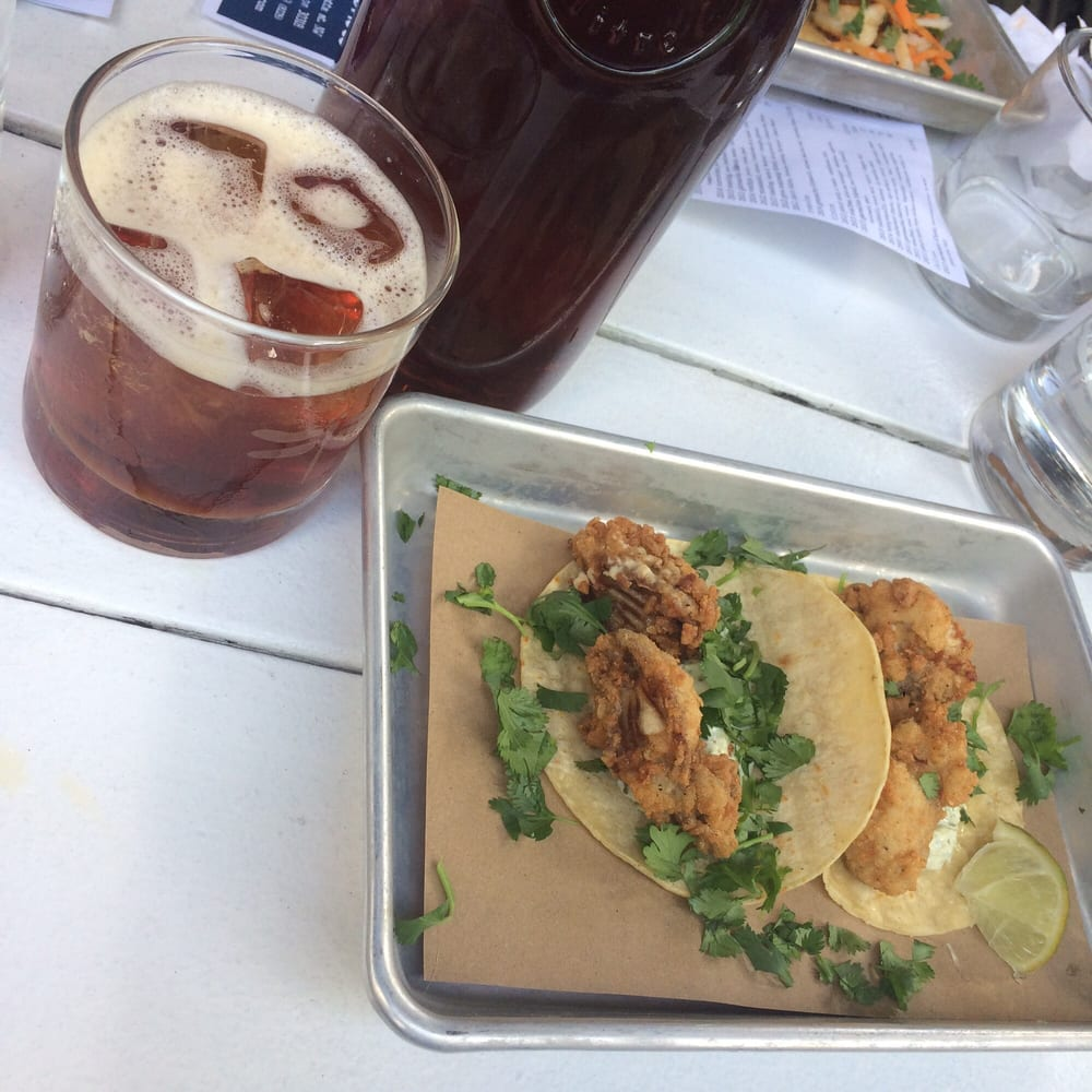 ... - Atlanta, GA, United States. Fried oyster tacos for the win