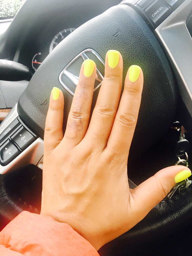Flawless gel mani! Matching pedi perfect, too. (Color: Happy Hour by ...