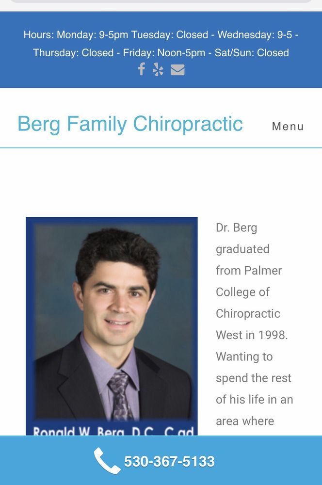 Berg Ronald W, DC: 24005 Racetrack St, Foresthill, CA