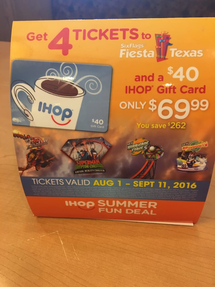 Cool deal on six flags tickets at ihop! - Yelp