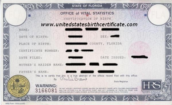 order your us birth certificate from florida. - yelp