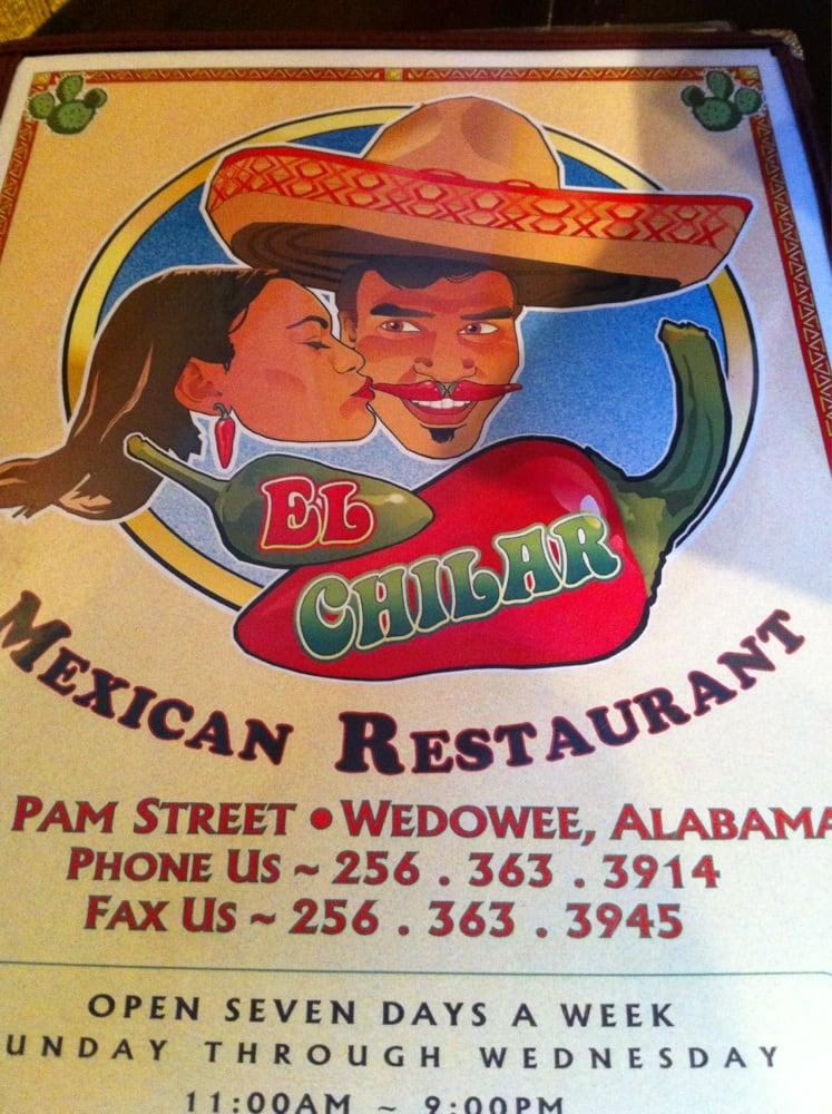 El Chilar Mexican Restaurant: 43 Pam St, Wedowee, AL