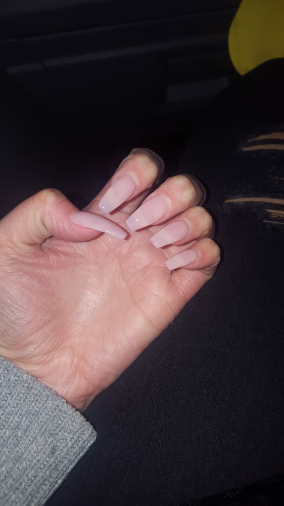 Ballerina nails with a light/clear pink - Yelp