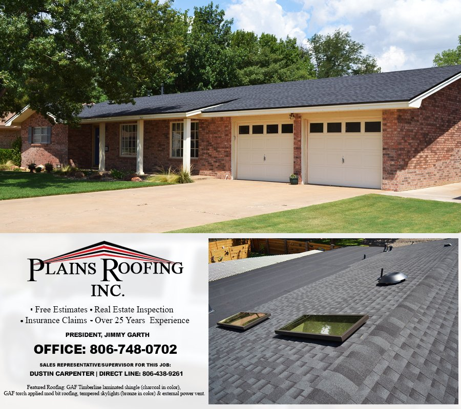 Plains Roofing: 2301 122nd St, Lubbock, TX