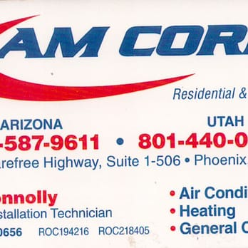Am corp air duct cleaning heating air conditioninghvac photo of am corp phoenix az united states business card colourmoves