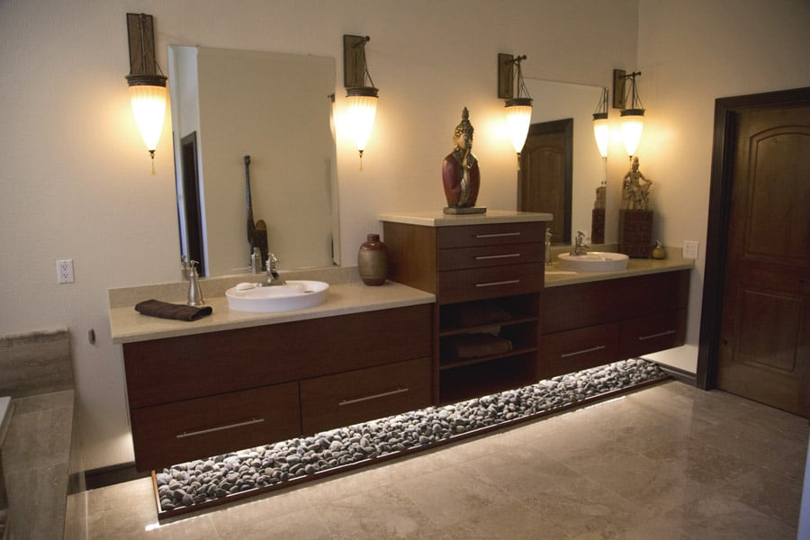 bathroom under cabinet lighting custom floating vanity with cabinet lighting for 11749