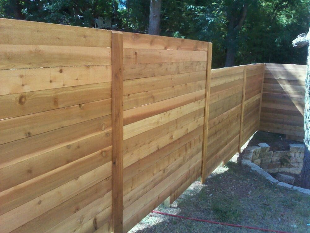 Horizontal cedar fence Yelp