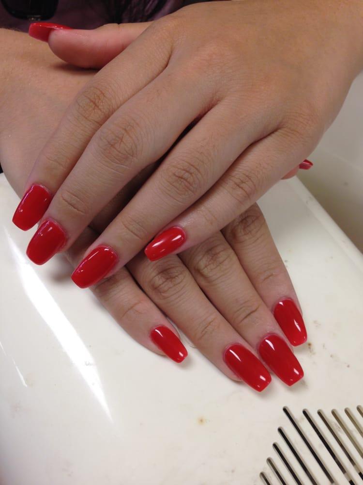 Red nexgen nails - Yelp