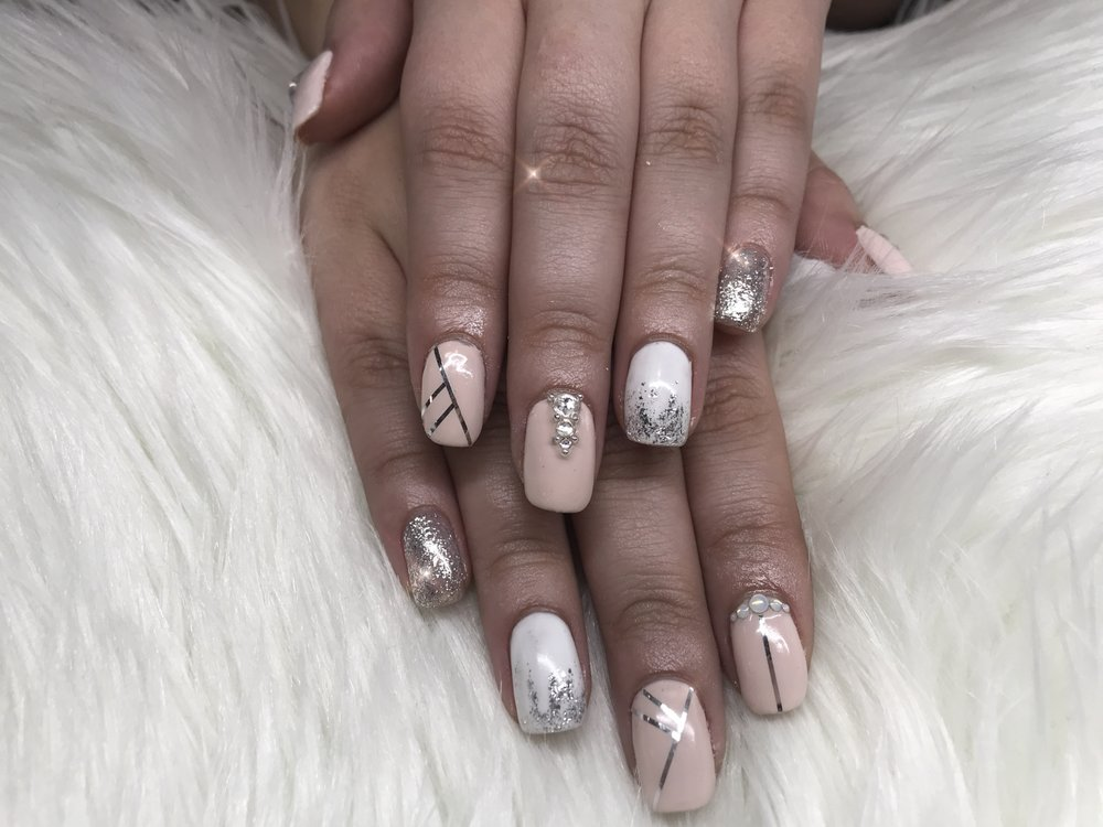 Nail art on natural shellac nails - Yelp