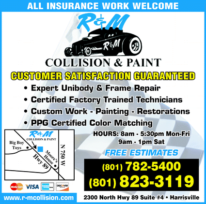 R & M Collision and Paint: 2300 N Hwy 89, Harrisville, UT