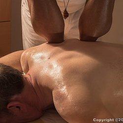 Asian male to male massage