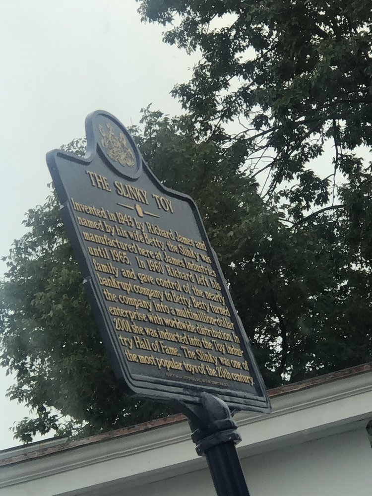 Slinky Toy Historical Marker: 9-11 W Baltimore Pike, Clifton Heights, PA