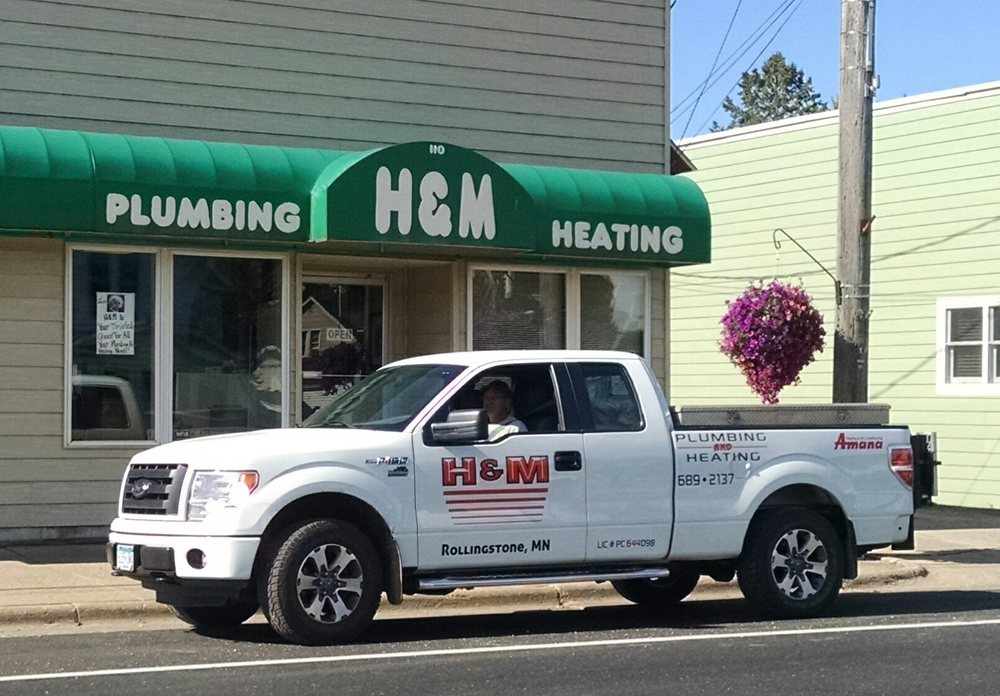 H & M Plumbing & Heating: 110 Main St, Rollingstone, MN
