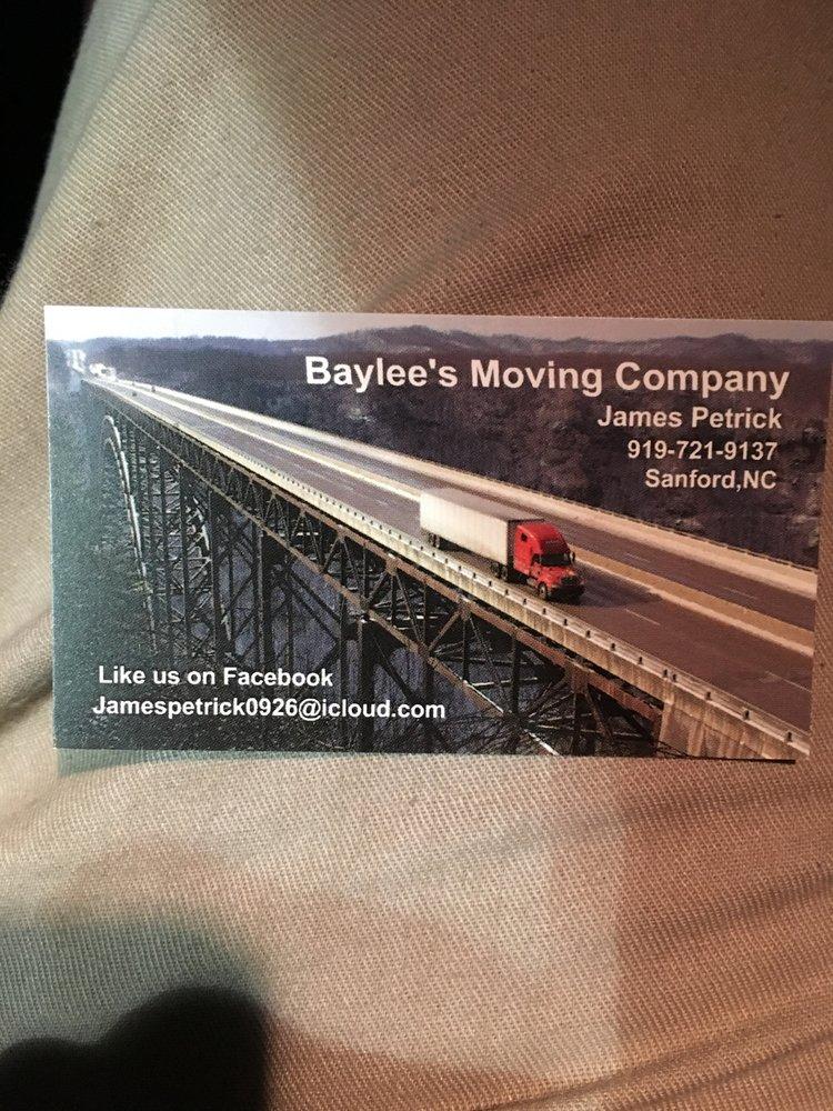 Baylee's moving: Sanford, NC