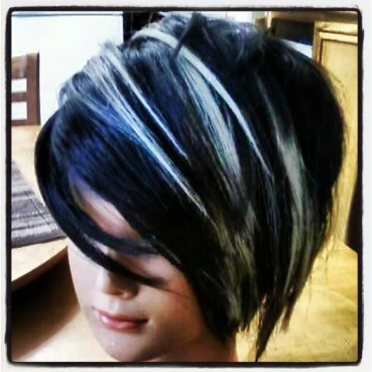 My Work With Blue Black Coloring And Platinum Blonde