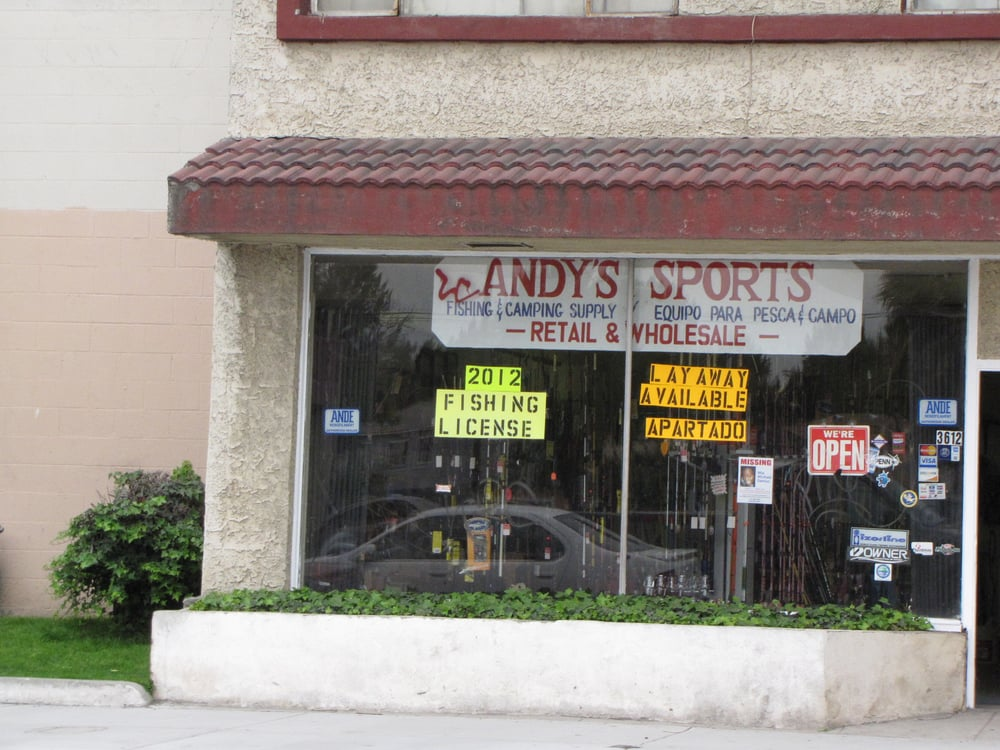 Andy's Sports & Tackle Supply: 3612 Martin Luther King J, Lynwood, CA