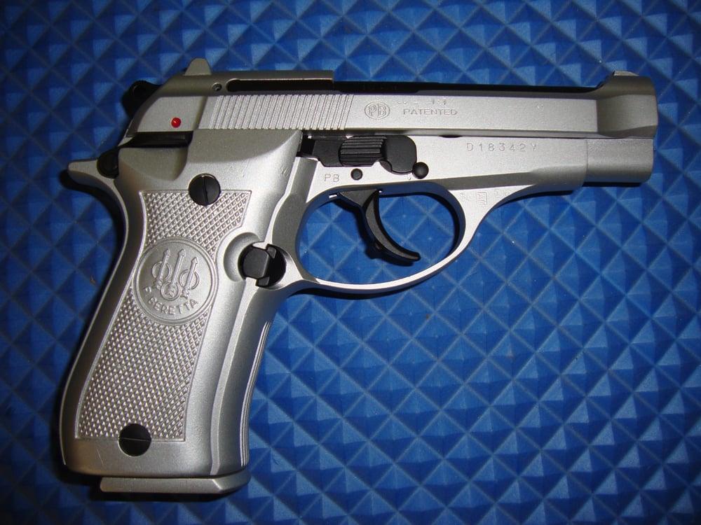 Beretta 84 Cerakoted In Satin Aluminum And Black Yelp