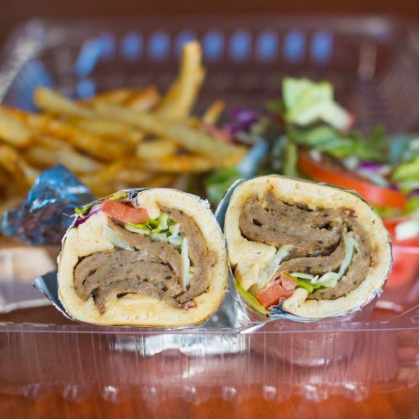 Photo of D's Dubai Sauce - Los Angeles, CA, United States. Beef/Lamb Gyro Wrap