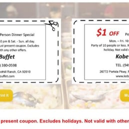photos for kobe buffet menu yelp rh yelp com Kobe Orlando Coupons kobe buffet coupons bel air md