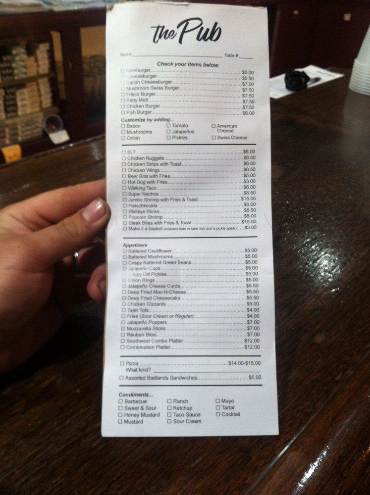 The Pub: 471 Main St, Gladstone, ND