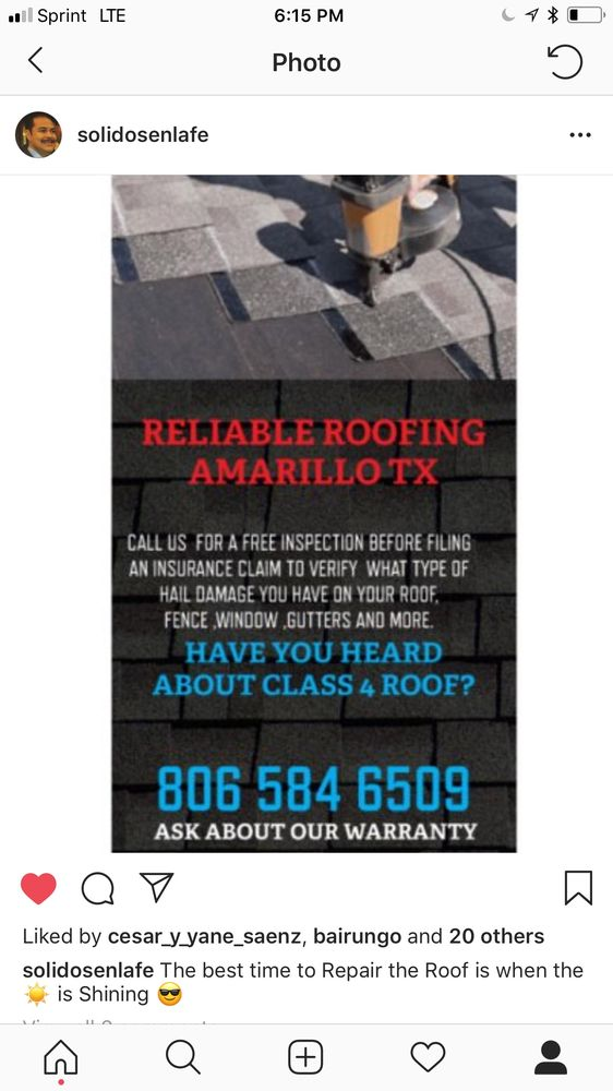 Reliable Roofing Solutions: 11716 Ranch Trl, Amarillo, TX