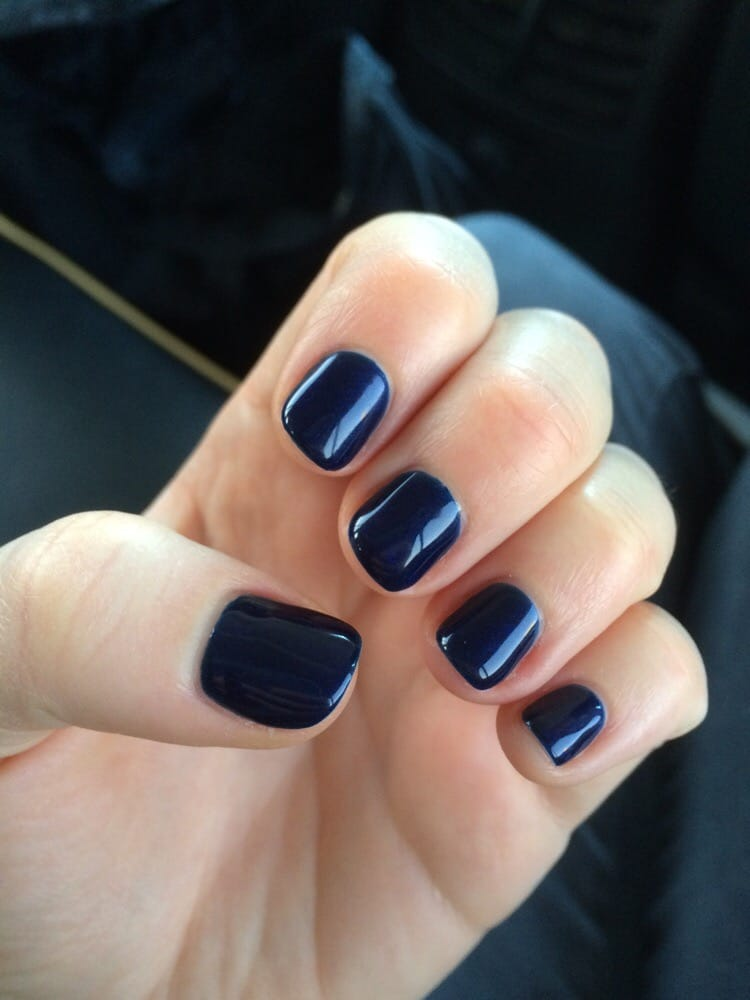 Perfect no-chip manicure! (OPI Russian Navy--a navy color with ...