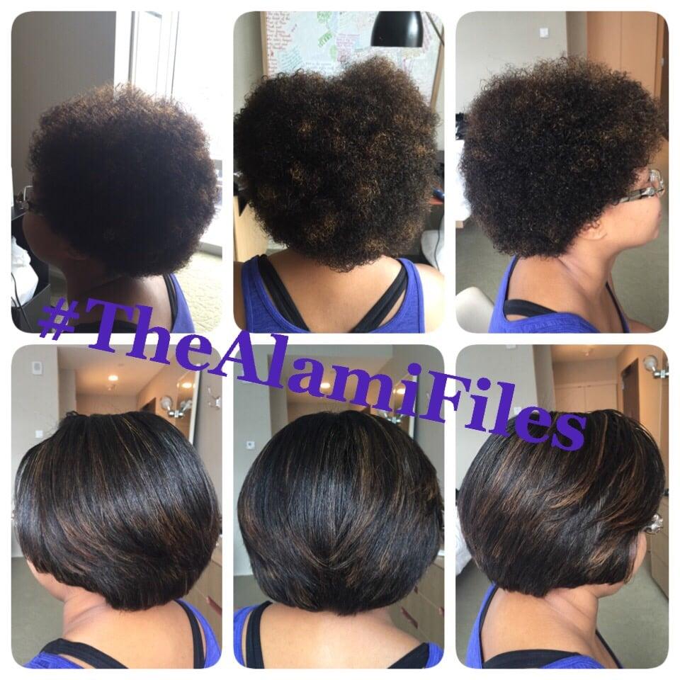 Silk Press On Short Natural Hair