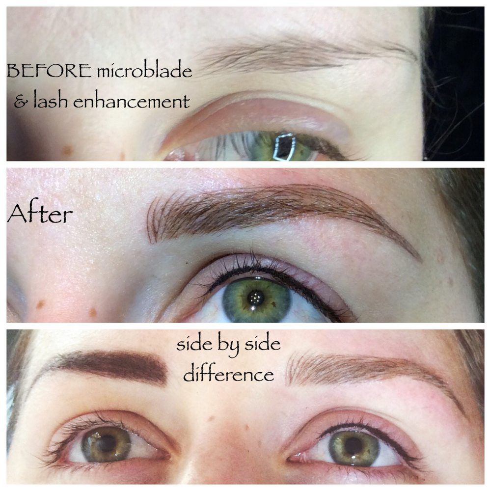 Aug 2016 Permanent Eyebrows Microblading And Sultry Eyelash