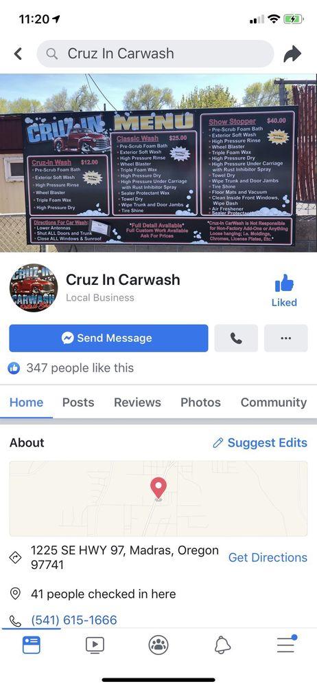 Cruz-In Carwash: 1225 SE Hwy 97, Madras, OR