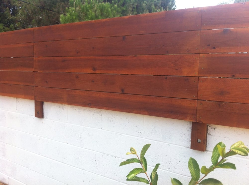 This Redwood Wall Extension Is A Good Way To Extend The