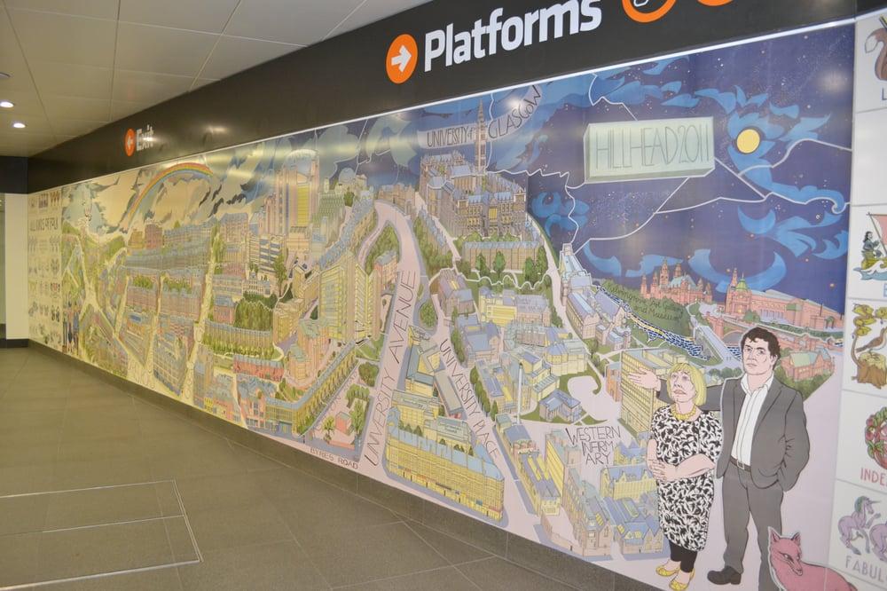Alasdair gray mural in the station yelp for Alasdair gray hillhead mural