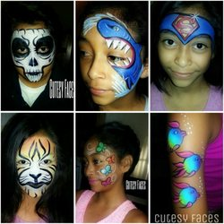 Cutesy Faces Face Painting Balloon Twisting Glitter Tattoos 40