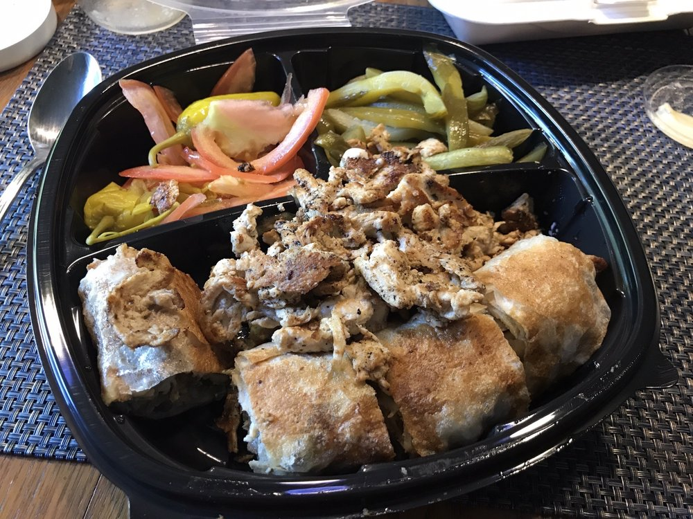 Food from Krazy Shawarma