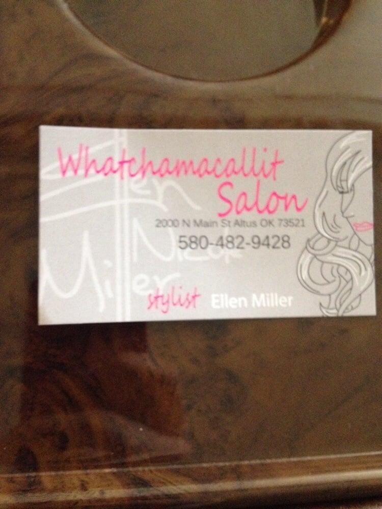 Whatchamacallit Styling Salon: 2000 N Main St, Altus, OK