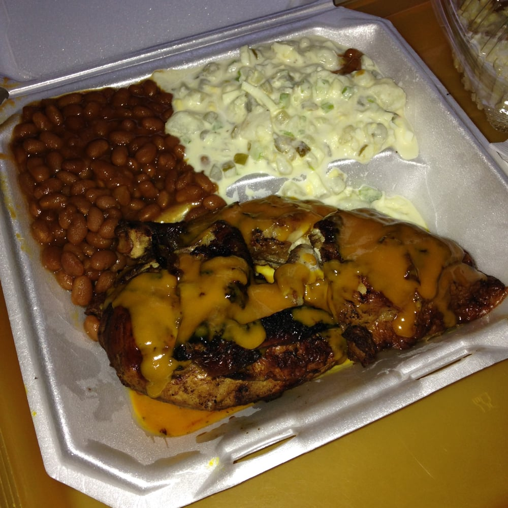 Bbq chicken dinner with potato salad baked beans sides for What sides go with barbecue chicken