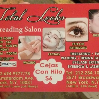 Total looks threading salon threading services 3571 for A total new you salon